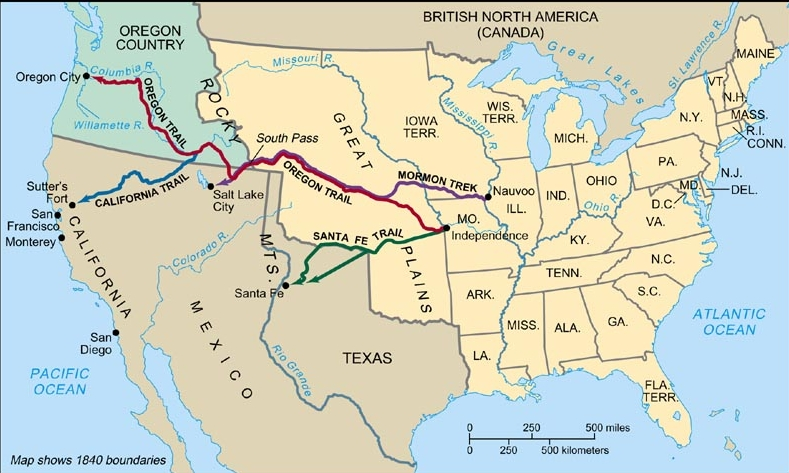 Westward Expansion Map Of The USa Land Areas And With United - Map of us oregon