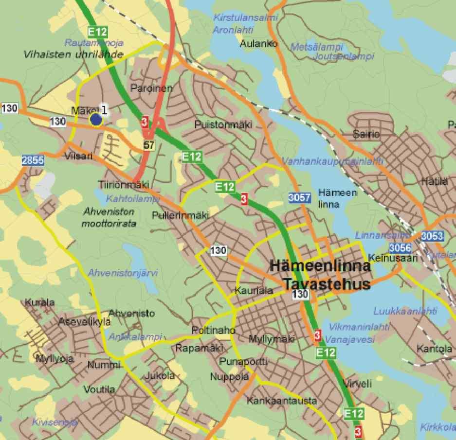 Hameenlinna Map