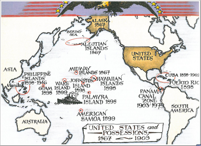 Evans Map Of US Imperialism ThingLink - Maps of us imperialism