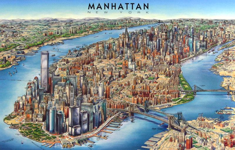 New York Virtual Map - Manhattan - ThingLink