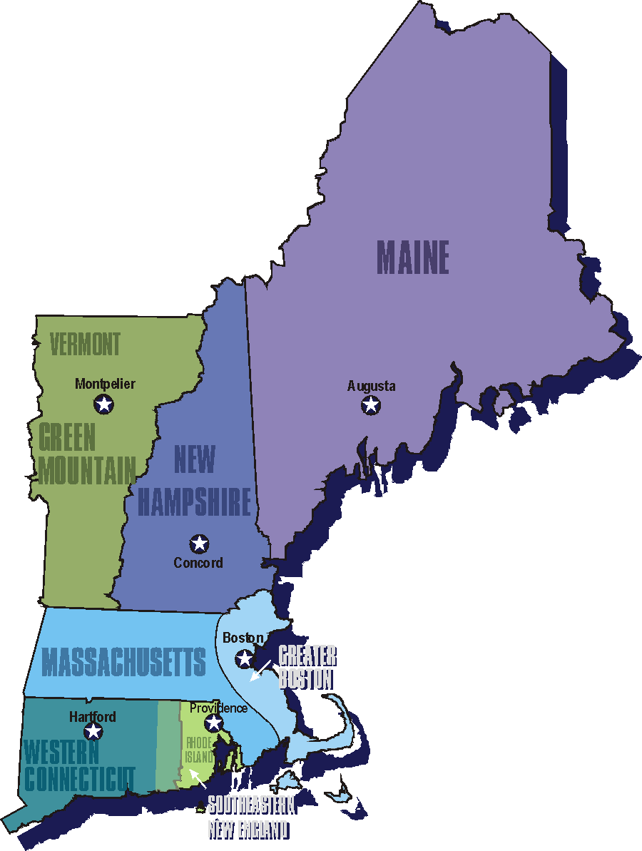 Welcome To Our Race Across The New England States Of Amer - New england states and capitals