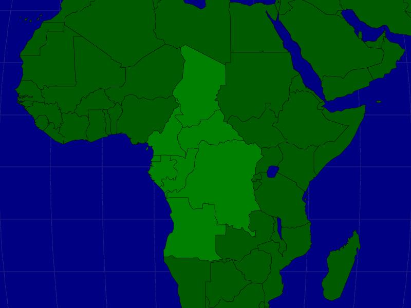 Blank Middle Africa Map | Joodsetegoeden