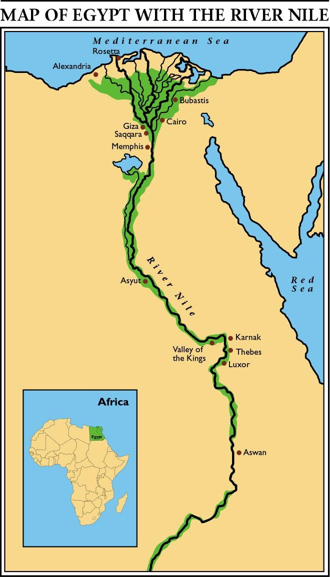 Map Of The Nile River My blog