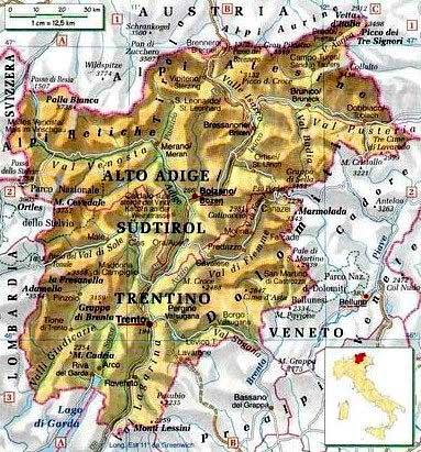 Cartina Italia Trento.Trentino Cartina Fai Da Te