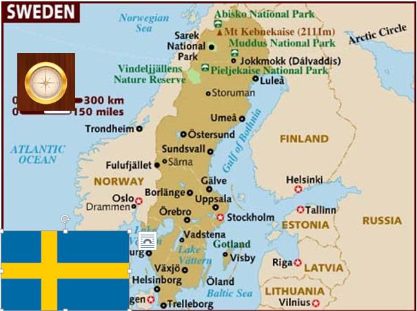 Sweden Information Map ThingLink - Sweden map gotland