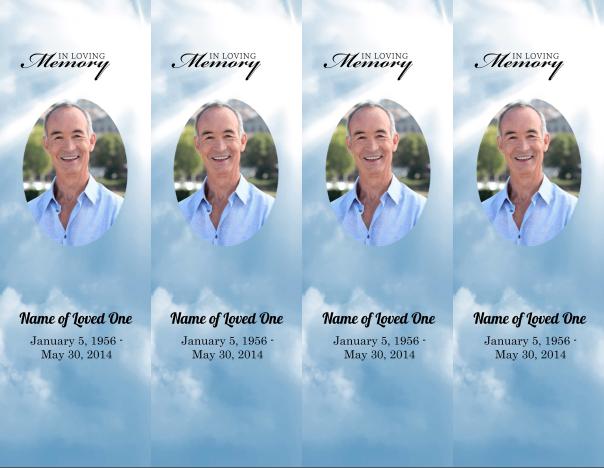 Zachary Douglass LLC Memorial Bookmarks Template