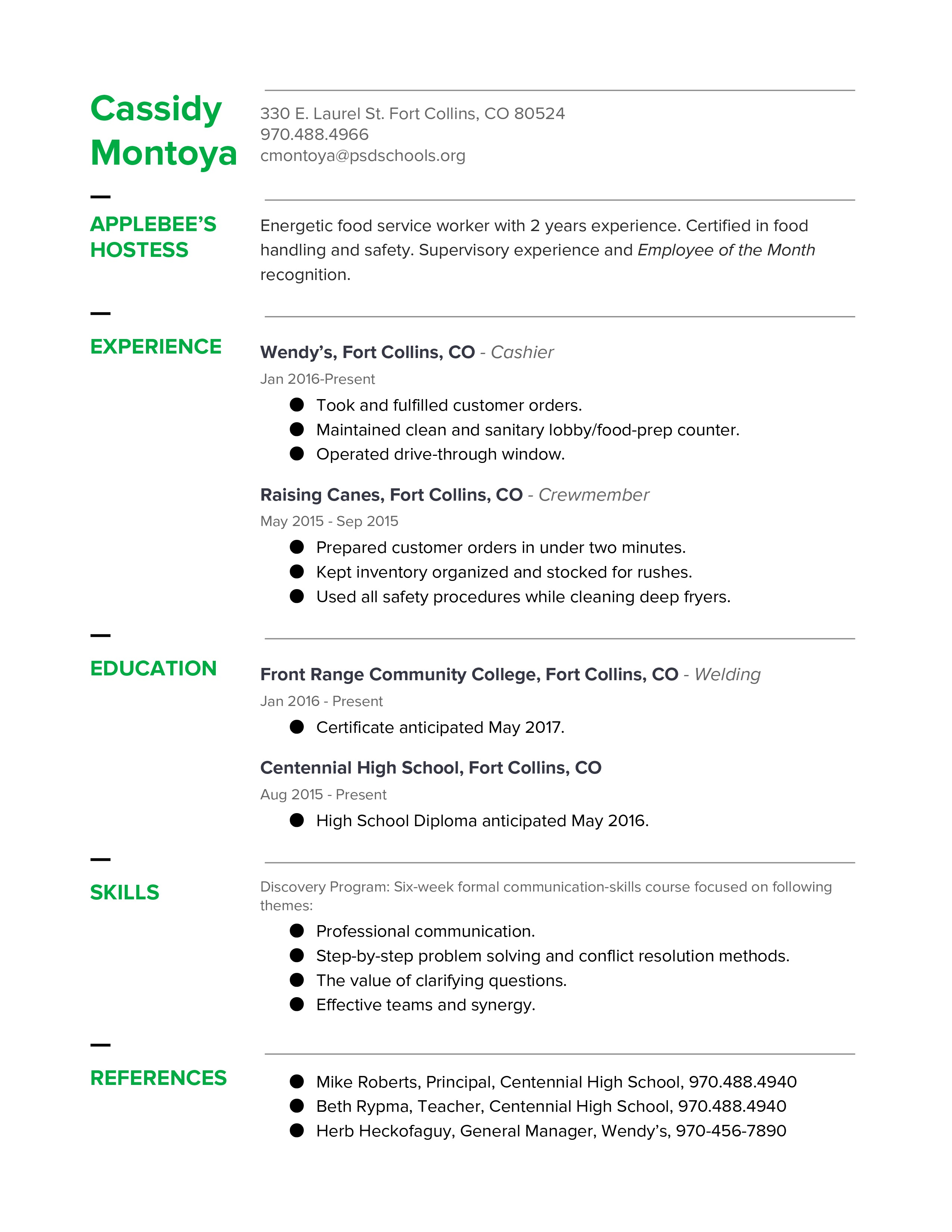 chronological resume exle thinglink