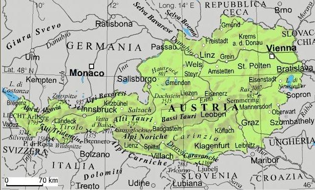 Cartina Geografica Dell Austria.Austria Pietro Gavioli