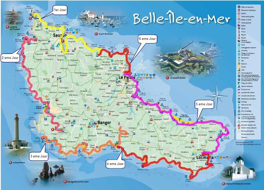 carte de belle ile Carte de Belle île en mer 5°1/n°12