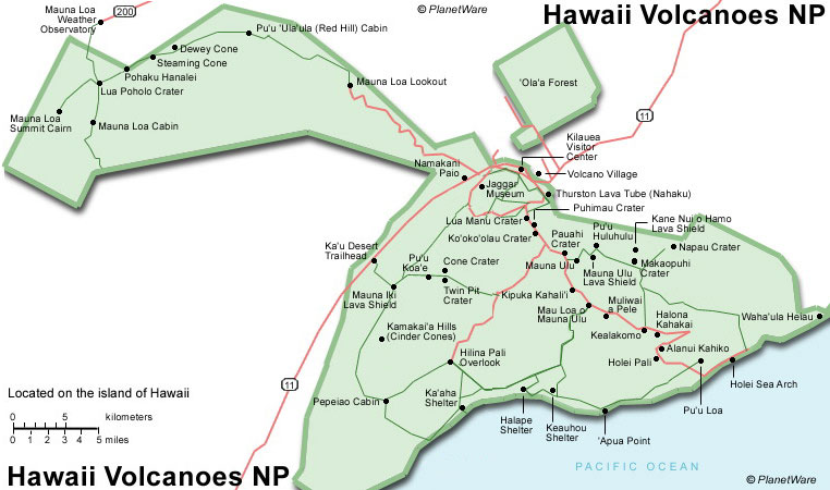 Hawaiian Volcano Interactive map ThingLink
