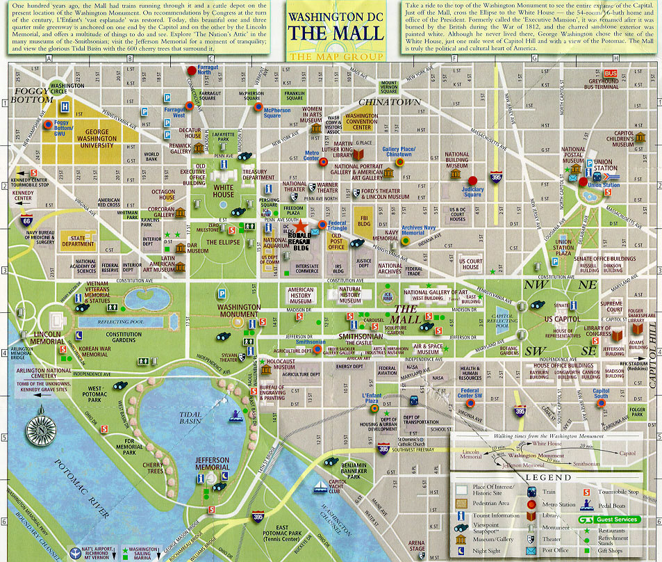 image about Printable Map of Washington Dc Mall named Town map of Washington Dc Metropolis Maps