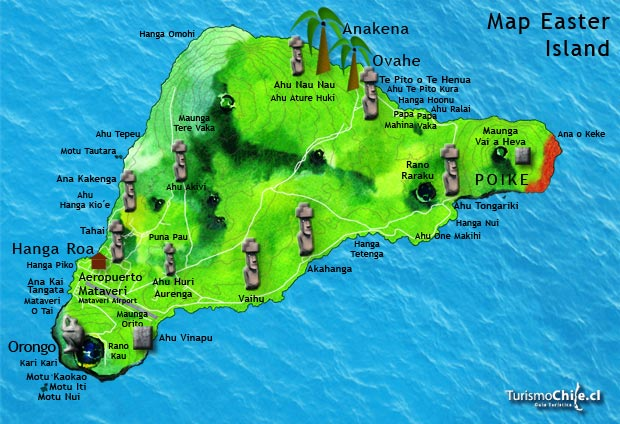 Easter Island ThingLink - Easter island map