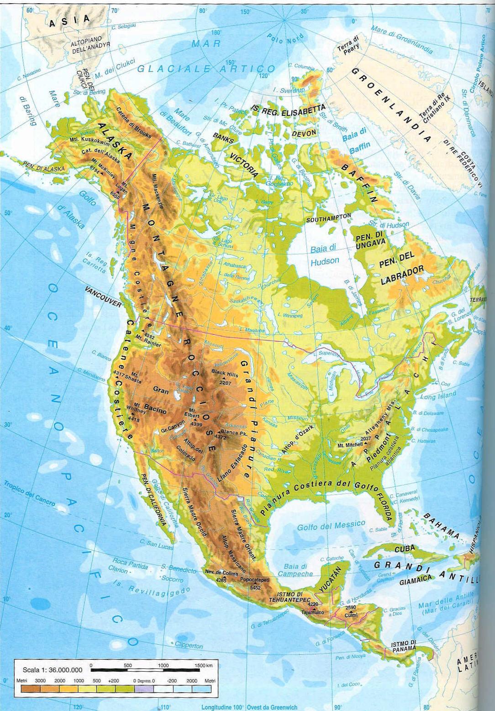 Cartina Geografica America Del Nord Fisica.Americhe Lessons Blendspace