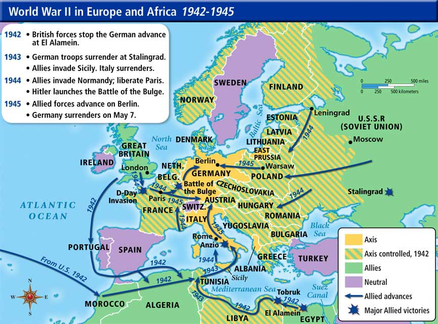 Early WWII Battles in Europe and North Africa