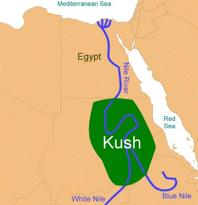 The Egyptian Kush Map ThingLink - Map of egypt kush