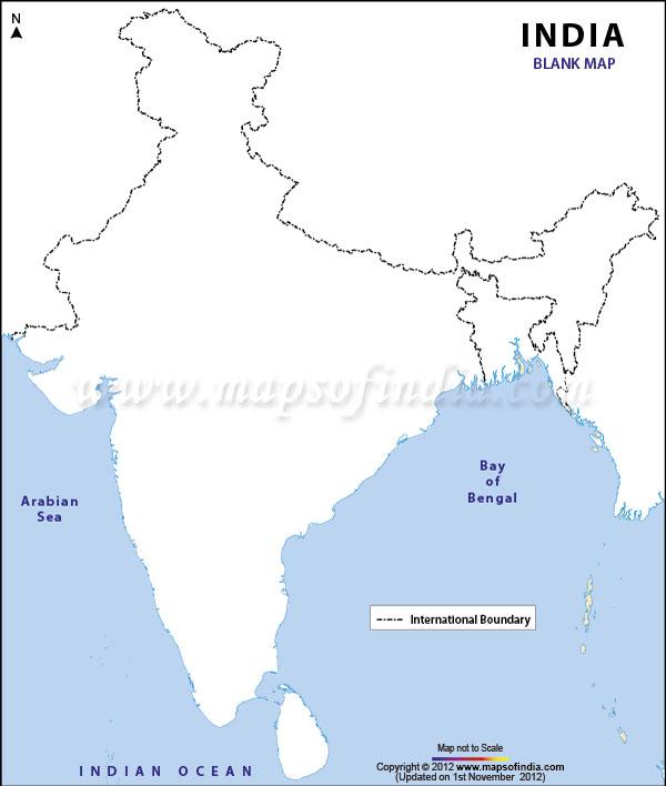 Plain Map Of India.India