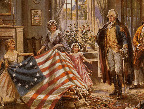 Betsy Ross, the woman who made the flag!