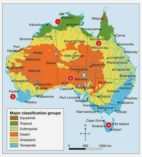 Australian Biomes Map