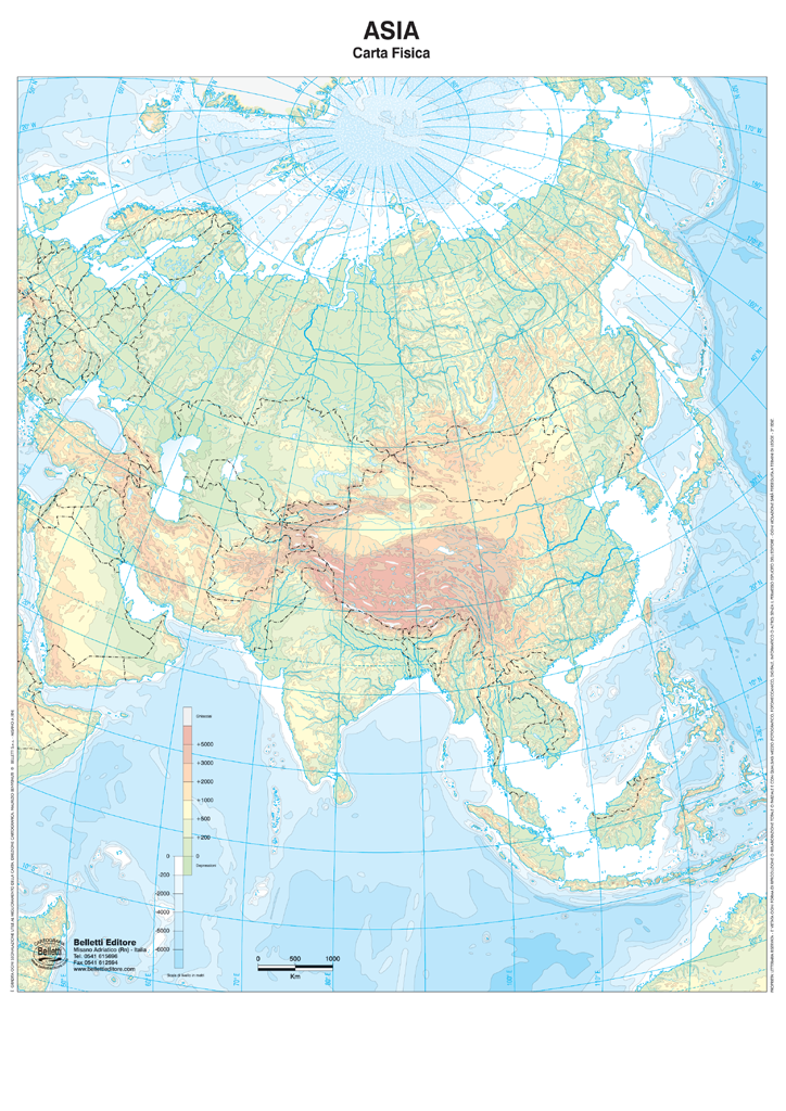 Asia Muta Cartina.Asia