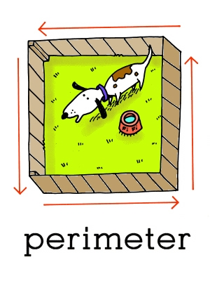 Image result for perimeter cartoon