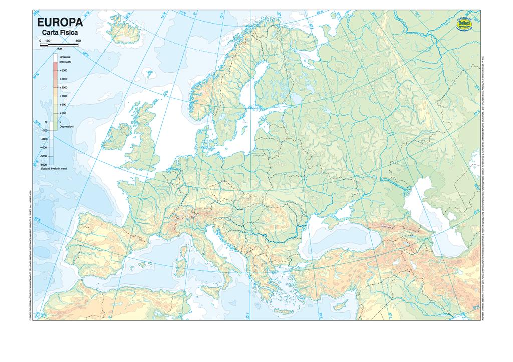 Cartina Fisica Muta Europa My Blog