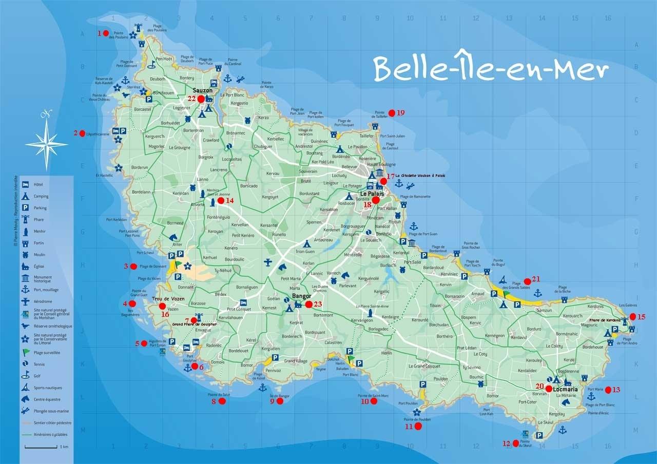 carte de belle ile Titre: carte de belle île EPI belle île