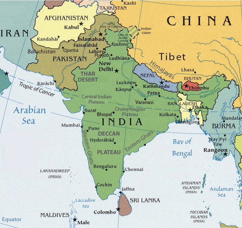 South Asia map activity