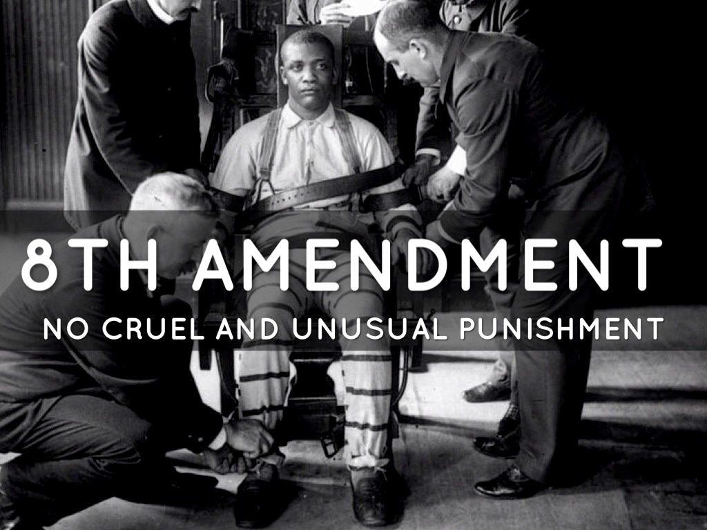 an argument that execution is cruel and unusual A federal judge ruled california's death penalty unconstitutional wednesday which prohibits cruel and unusual punishment the state's long delays on death row cases undermine the arguments for capital punishment.
