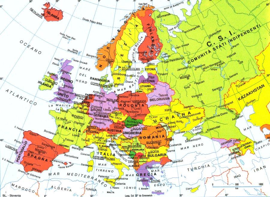 Cartina Dell Europa Geografica.Europa Politica Lessons Tes Teach