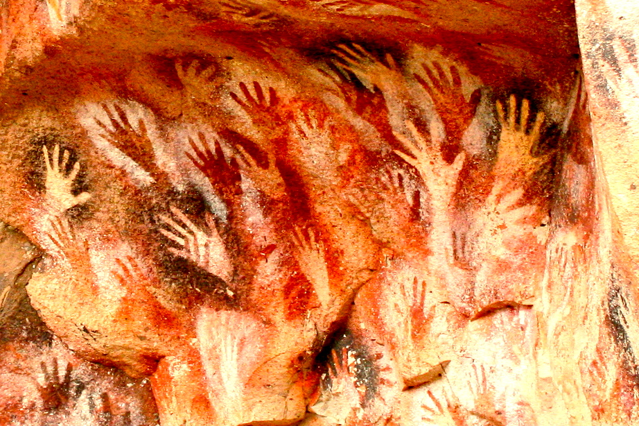 Paleolithic Cave Painting Of Hands