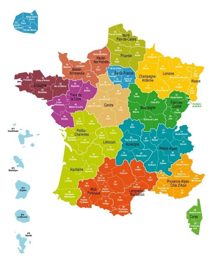 carte de france region et ville Les gestes francais