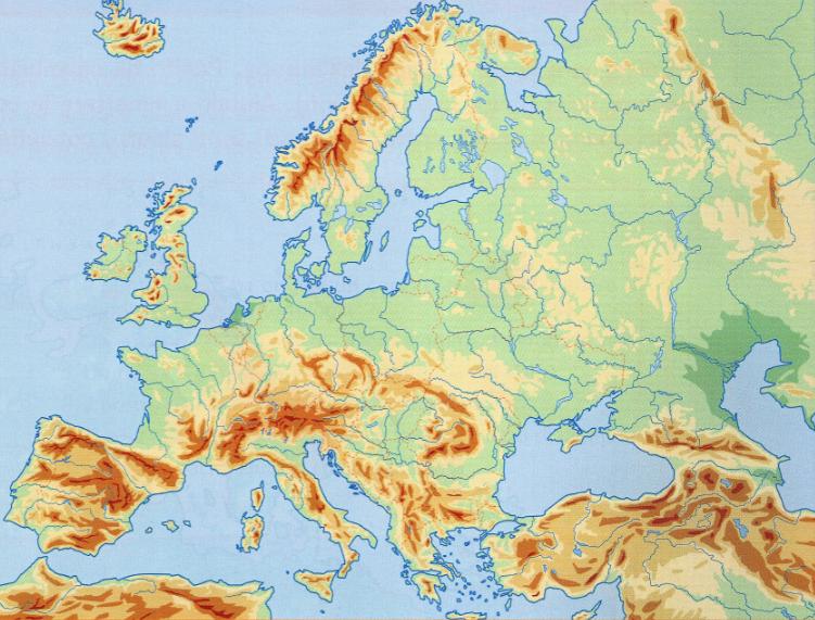 Cartina Politica Muta Dell Europa.Montagne D Europa