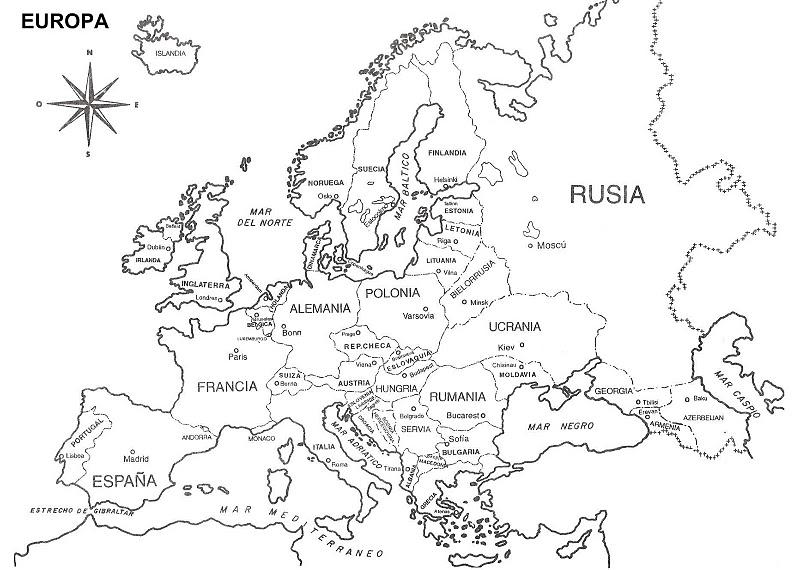 Mapa De Europa Y Asia Para Colorear Sin Nombres Ardusat Org