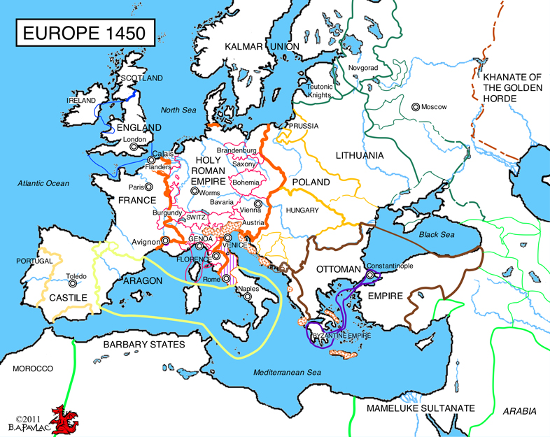 Europe In 1450 An Overview