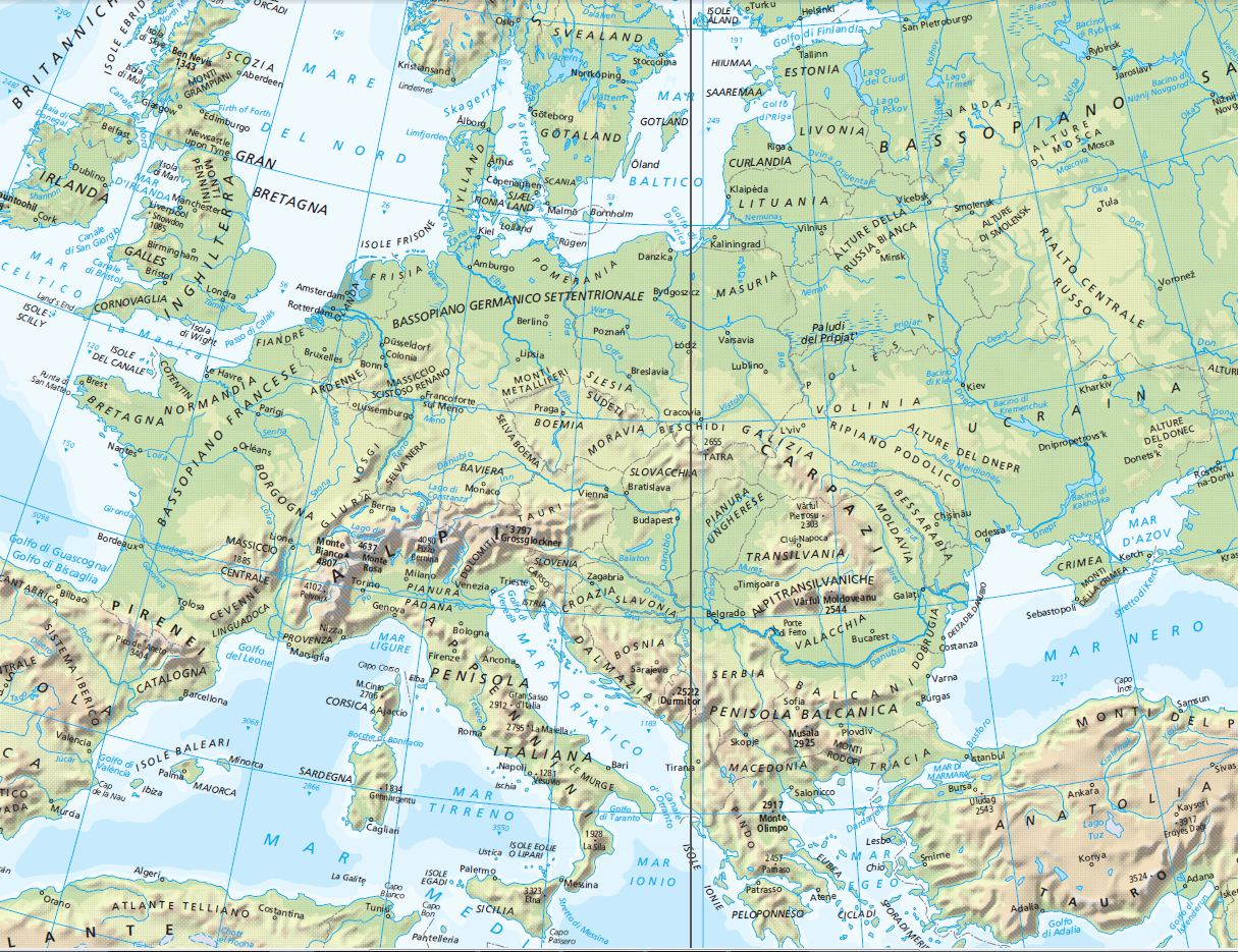 Cartina Europa Fisica Con Fiumi Pieterduisenberg