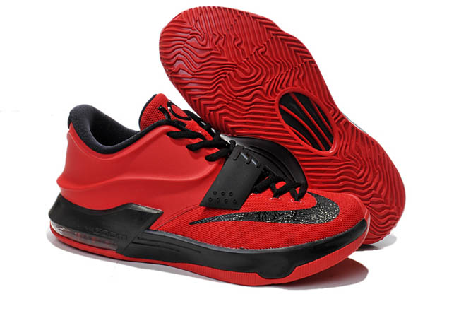 96d5129d07c0 Mens Nike Zoom KD 7 Action Red Black Discount Kevin Duran...