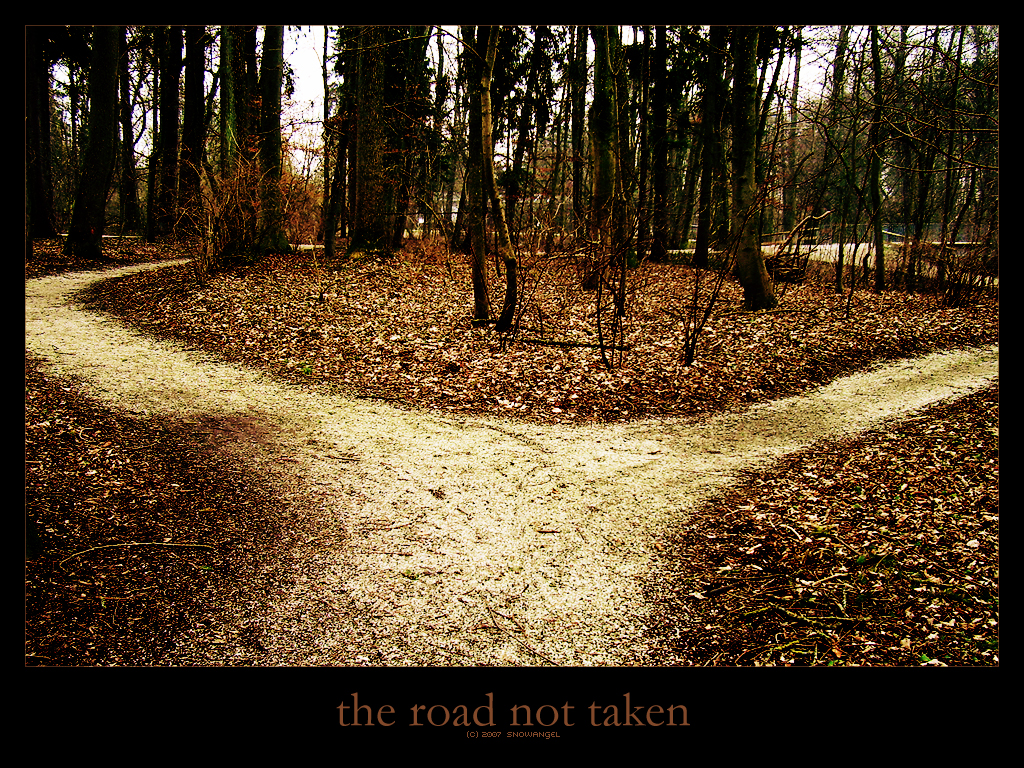 "the uncertainty on a persons life route as portrayed in robert frosts the road not taken Robert frost's poetic style ""the road not taken"", symbolically psychological analyst and his character-portrayal some of the poems of robert frost."