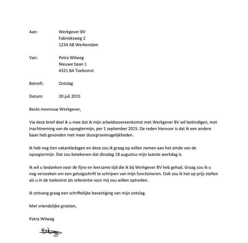 ontslagbrief vakantiedagen Ontslagbrief fout   ThingLink ontslagbrief vakantiedagen