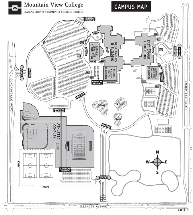 Mountain View College Campus Map.Mountain View College Campus Map
