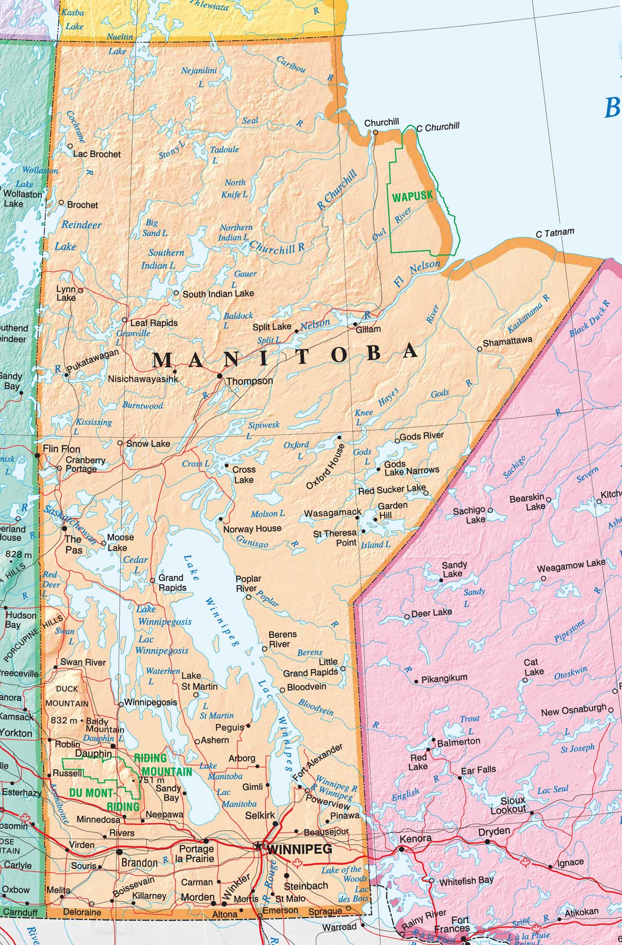 Manitoba Map My Blog - Map of manitoba