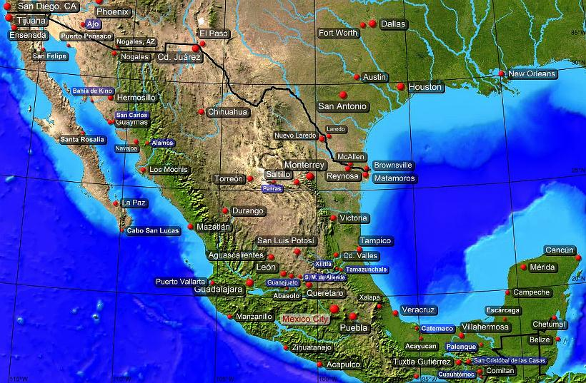 The Map of Mexico ThingLink – Map of Mexio
