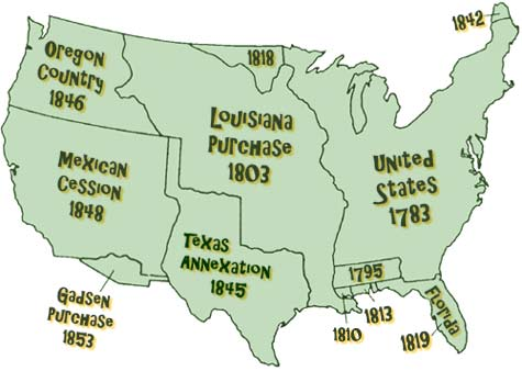 Map of us expansion
