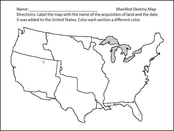 Manifest Destiny ThingLink - Us manifest destiny map