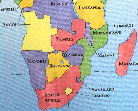 Southern Tip Of Africa Map | Time Zones Map