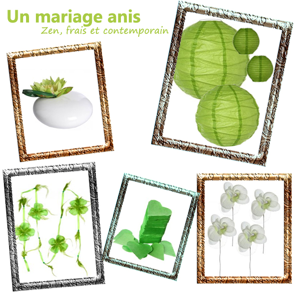 Les couleurs de votre mariage : l'anis