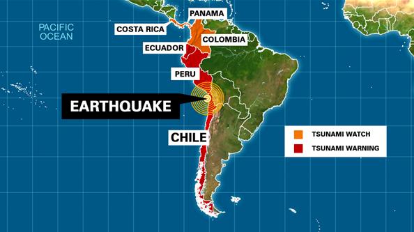 1960 Chile Earthquake Map.1960 Chile Earthquake