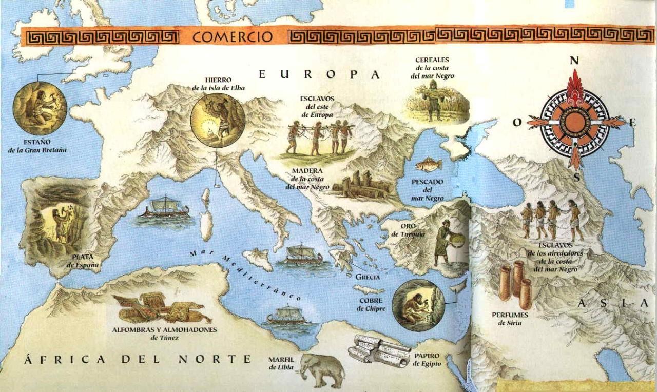 Nuestra grecia cl sica el comercio de grecia en su poca for Epoca clasica