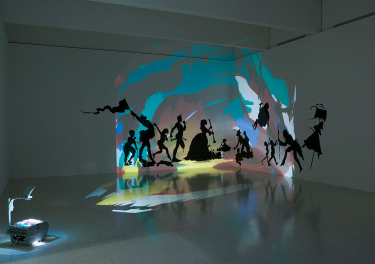 Kara Walker Darkytown Rebellion Cut paper and projection ...