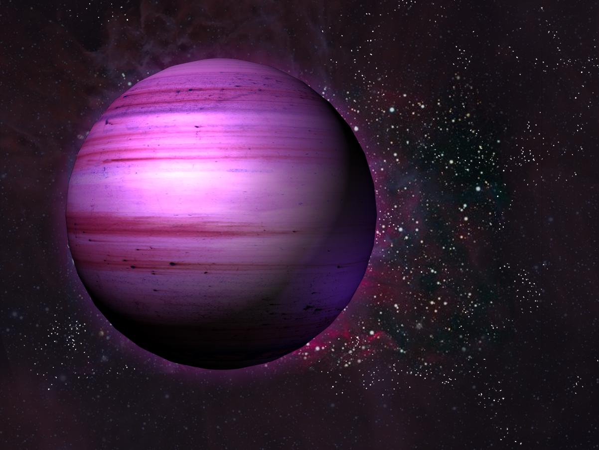 purple planet star comet - photo #33