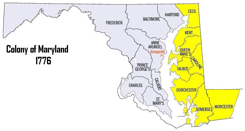 Maryland Map Colony